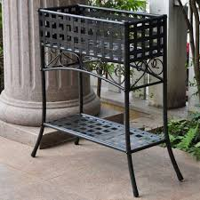plant stand outdoor wrought iron hanging plant stands