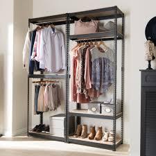 baxton studio gavin black metal 7 shelf closet storage racking