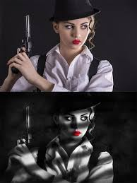 tutorial efek vektor di photoshop to create a sin city style film noir effect in photoshop