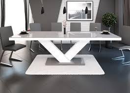 Wohnzimmertisch Dekoration Esstisch Hochglanz Weiß Ausziehbar