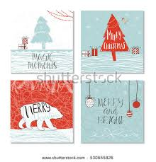 merry christmas greeting cards templates vector stock vector
