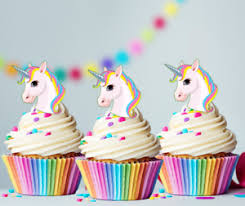 edible cake decorations unicorn pastel rainbow mane edible cupcake cake toppers