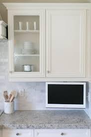 walnut wood chestnut madison door under cabinet tv for kitchen