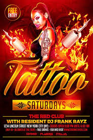 tattoo party flyer template psd download now xtremeflyers