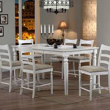High Dining Room Sets Kemper Counter Height Dining Room Set With - Bar height dining table white