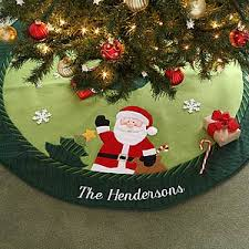 personalized santa tree skirt