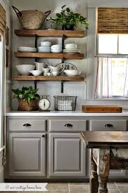 Black Amp White Modern Country by Grey Kitchen Cabinets Open Shelving Love Home Is Here