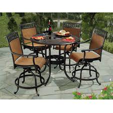 Patio High Table And Chairs by Sunjoy Seabrook 5 Piece Patio High Dining Set L Dn899sal A The
