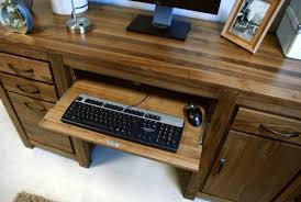 Walnut Computer Desks Mayan Walnut Pedestal Computer Desk Akd Furniture
