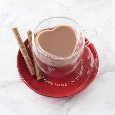 heart shaped mug personalised heart shaped mug and saucer by becky broome
