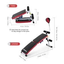 amazon com tomshoo adjustable foldable gym weight bench decline