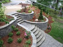 landscaping ideas for sloped backyard christmas lights decoration