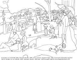 famous art coloring pages eson me