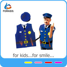 police dress up costume for child police force play toy set for