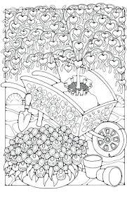 secret garden coloring book color pages colored flower books