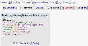t sql insert into new table php tutorials adding records to a phpmyadmin table
