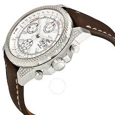 bentley breitling diamond breitling bentley gt ii white dial automatic chronograph diamond