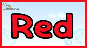 learn the color red the color red for kids youtube