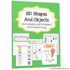 3d shapes worksheets printables u0026 worksheets