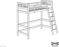 IKEA Beds HEMNES LOFT BEDFRAME TWIN PDF Assembly Instruction Free - Ikea bunk bed assembly instructions