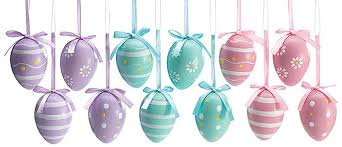 easter egg ornaments 3 assorted designs gift