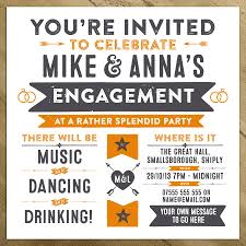 Engagement Invitations Card Wedding Engagement Birthday Party Invitations By A Is For