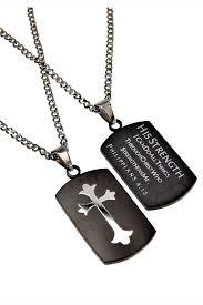 black shield cross necklace philippians 4 13 celebrate faith