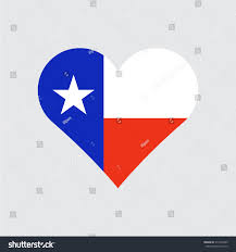 Texaa Flag Texas Flag Heart Love Country State Stock Vector 313704539