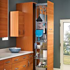 pull out kitchen storage for cleaning tools supplies kitchen