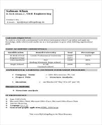 Civil Engineer Resume Examples by 47 Engineering Resume Samples Free U0026 Premium Templates