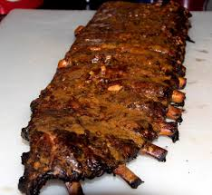 siege rib smoked spare ribs with bourbon peanut butter glaze