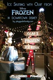 olaf u0027s frozen ice rink brings magic to downtown disney