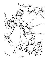 belle beauty beast coloring pages kids coloring