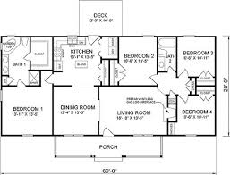 unusual 4 bedroom ranch house plans 67 in addition home models