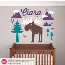 moose mountain with name wall decal graphic spaces moose mountain with name wall decal
