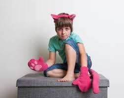 Pink Panther Halloween Costume Giraffe Ears Headband Giraffe Tail Soft Animal Tail