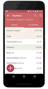 android image button hint drag the button to quickly add expenses incomes and