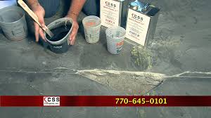 how to repair a hole in a concrete floor with quick repair 15