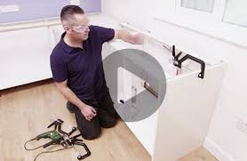 Install Kitchen Base Cabinets How To Fit A Kitchen Sink And Taps Wickes Co Uk