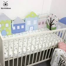 Next Crib Bedding 6pcs Baby Bed Bumper Crib Bedding Set Breathable Soft Bed Around