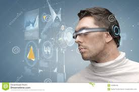futuristic woman hold electric plug stock photography image