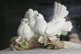 reserved u2014vintage doves masterpiece porcelain by homco 1985