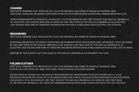 black friday j cole dreamville shares full credits for j cole u0027s