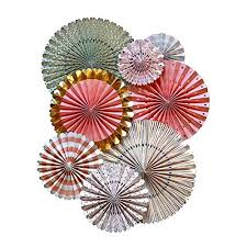 party fans my mind s eye trend style party fans 8 count pink