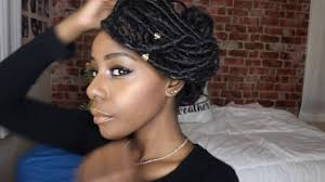 loc hairstyles with shunt goddess locs styles youtube