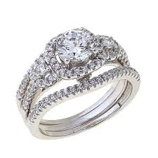 ring set absolute 1 49ctw cubic zirconia sterling silver halo 3