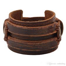 leather cuff bracelet with images Genuine leather cuff bracelet for men chunky super wide belt cover jpg