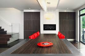 Dark Red Dining Room by Dining Table With Dark Wood Floors Dining Room Modern With Dark