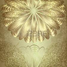 beautiful card with a gold ornate ornaments royalty free cliparts