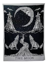 Red Black And Green Flag With Moon And Star Tapestries Amazon Com